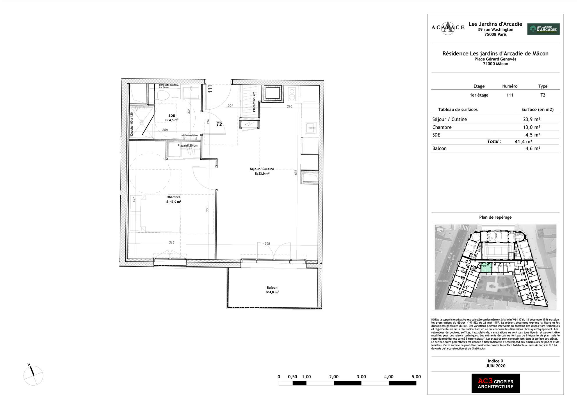 Plan de vente Appartement 111