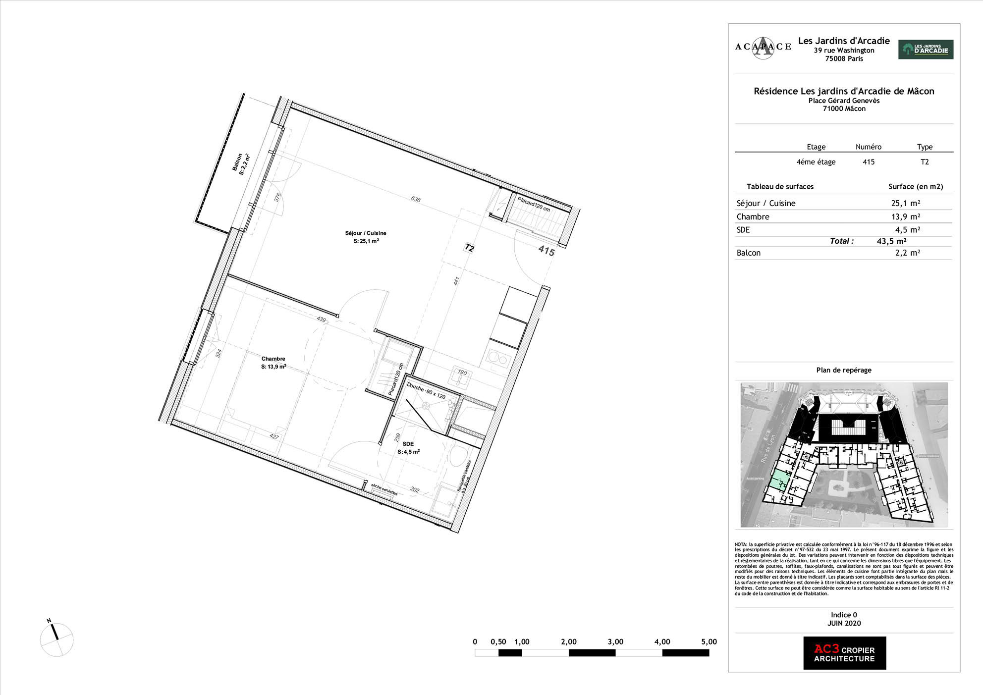 Plan de vente Appartement 415