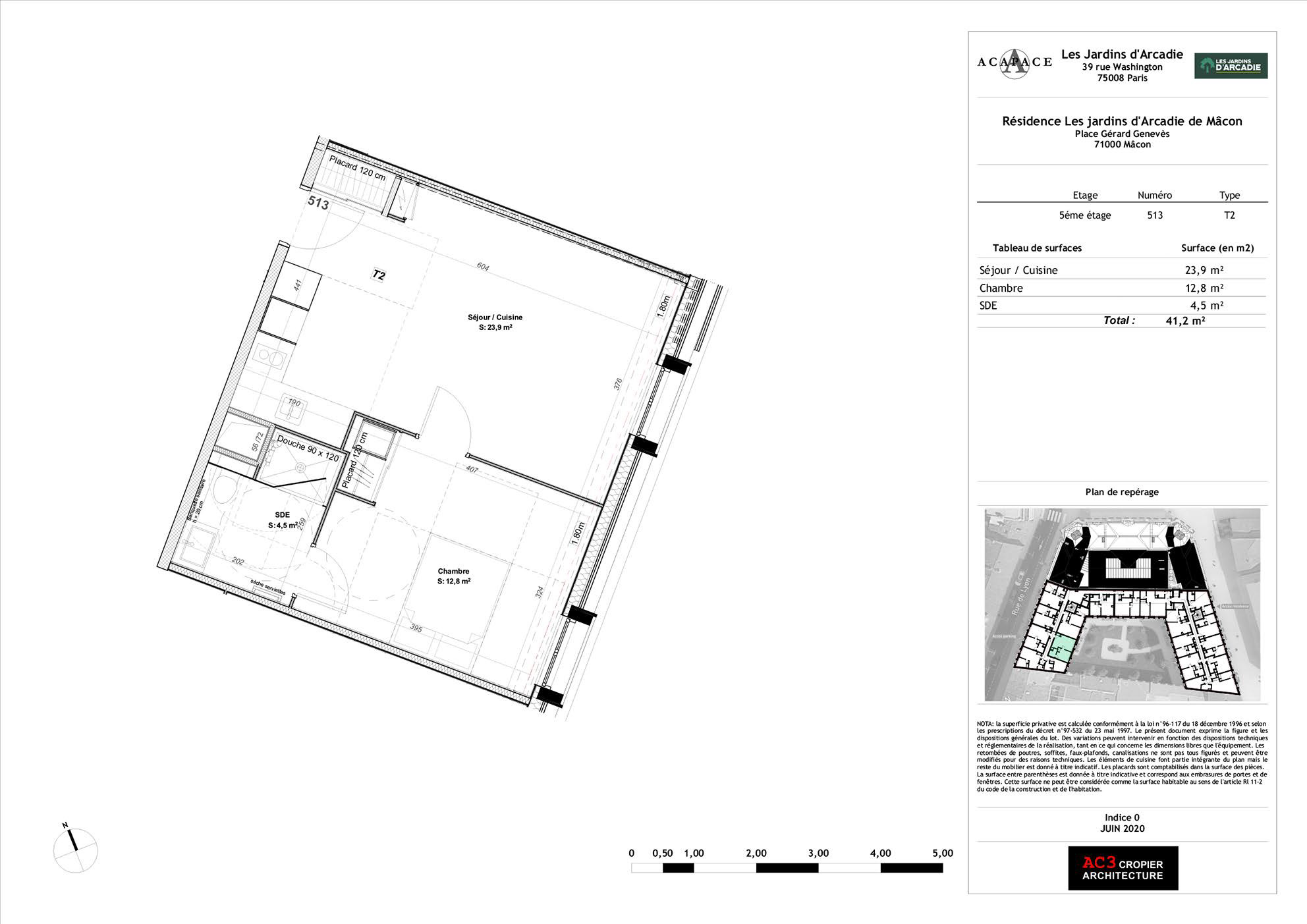 Plan de vente Appartement 513